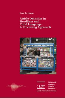 Picture of Article Omission in Headlines and Child Language: A Processing Approach