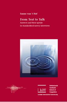 Picture of From Text to Talk : Answers and their uptake in standardised survey interviews