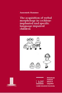 Picture of The acquisition of verbal morphology in Cochlear Implanted and Specific Language Impaired children