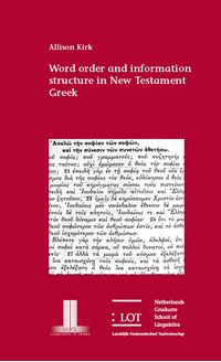 Picture of Word order and information structure in New Testament Greek